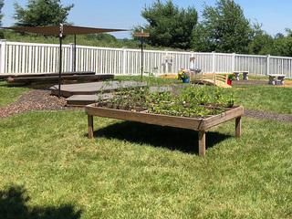 Goddard School builds outdoor classroom