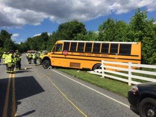 School bus crashes in Havre de Grace