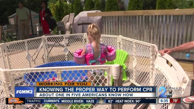 CPR saves two-year-old girl from near drowning