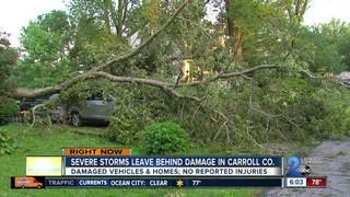 Sykesville neighborhood left a mess after storms