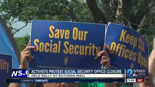 Activists protest Social Security office closure