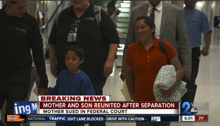 Mother and son reunited after border separation