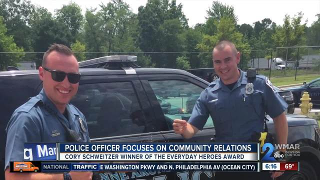 Police officer focuses on community relations