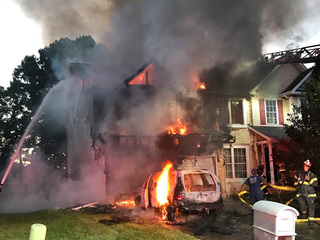 2-story Edgewood house fire; no injuries