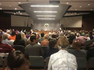 Hundreds support moratorium on building in EC