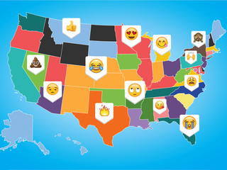 Do you know which emoji is most used in Maryland