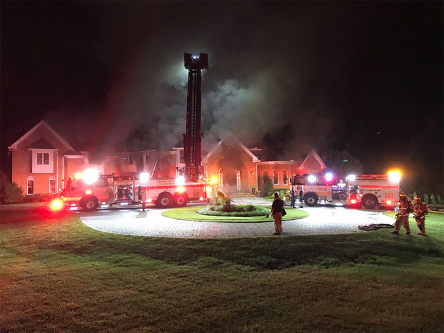 Five-Alarm house fire in Clarksville