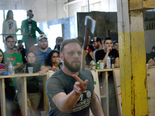 Urban Axes opening event draws blade tossers