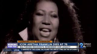 Baltimore reacts to passing of music icon Aretha
