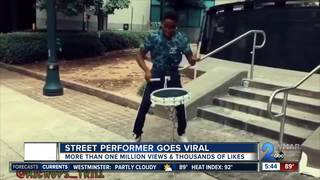 Local street performer goes viral