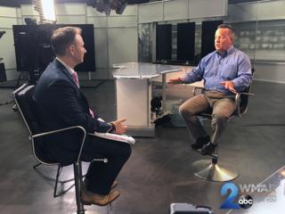Commissioner Kevin Davis speaks to WMAR-2 News
