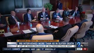 IRB interviewed 40+ in Suiter death