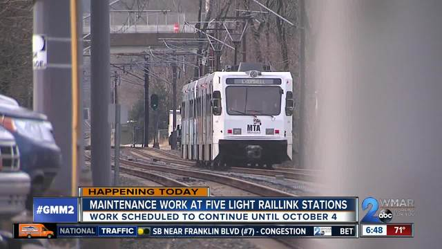 Maintenance work at five Light Raillink stations