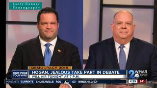Hogan, Jealous face off in only debate