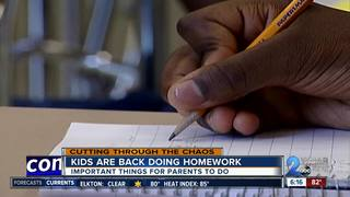 Teaching kids to tackle their load of homework