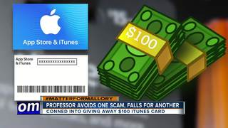 Professor avoids one scam, falls for another