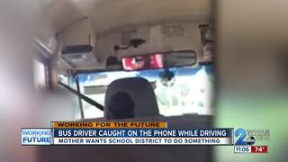 School bus driver caught on phone while driving