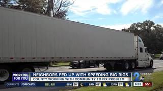 Arbutus neighbors vs. big rigs