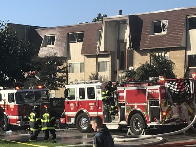 Explosion at apartments injures firefighters