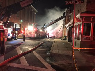 2 injured in West Baltimore fire