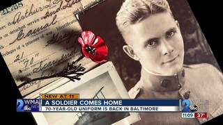 A soldier's 70 y/o uniform is back in Baltimore