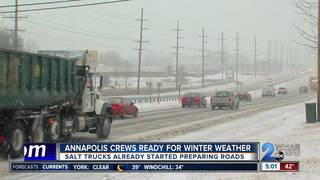 Annapolis crews prepping roads for expected snow