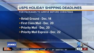 Post Office releases holiday shipping deadlines