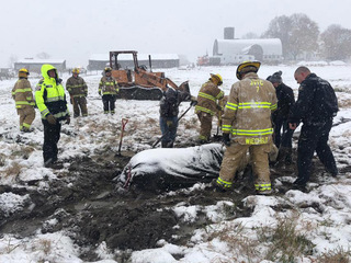 Horse dies after being stuck in icy creek