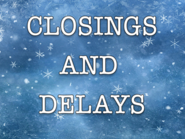 Wintry mix closes & delays schools, businesses