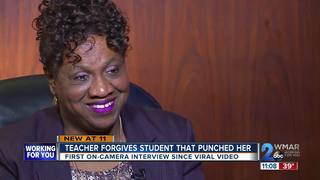 Teacher punched in viral video forgives student