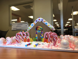 Gingerbread houses decorated by GMM crew