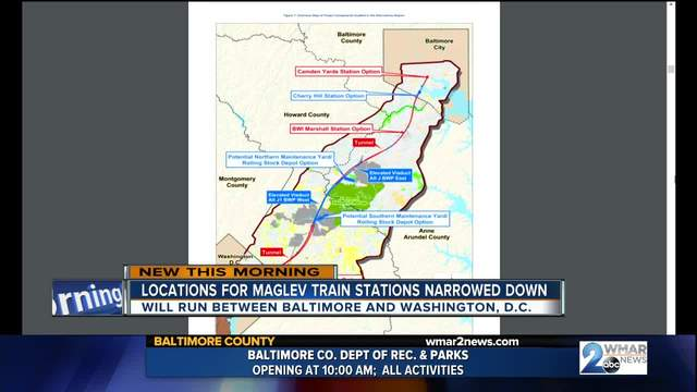 Locations for Maglev train stations narrowed down