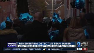 Vigil held in remembrance of Detective Suiter