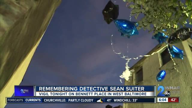 Family and friends hold vigil in remembrance of Detective Sean Suiter