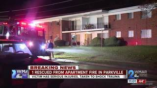 Man rescued from Parkville apartment fire dies
