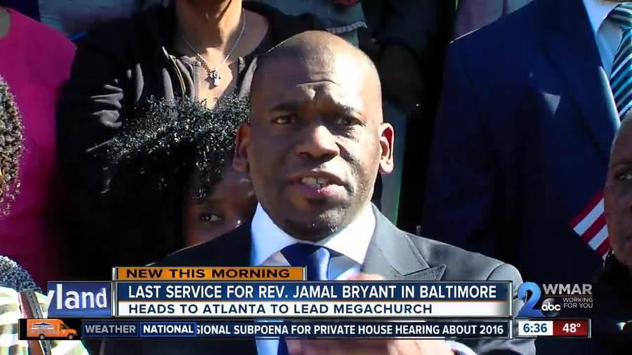 Pastor Jamal Bryant leads last Baltimore service
