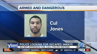 Inmate escapes from NC prison, may be in MD