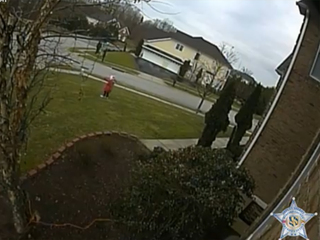 Grinch instructs girl to steal package on porch