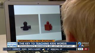 Words and hand motions help children learn